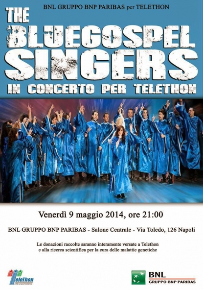 The Blue Gospel Singers in concerto per Telethon