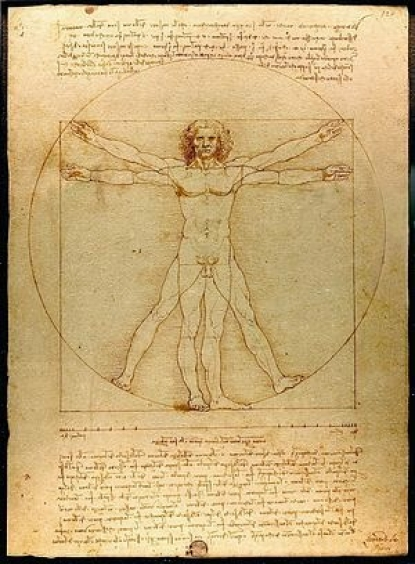 L' Uomo Vitruviano di Leonardo all' Expo 2015