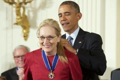 Premiata Meryl Streep con la Medal of Freedom