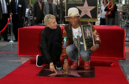 Pharrell Williams è la nuova stella di Hollywood