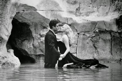 Anita Ekberg e la fontana di Trevi